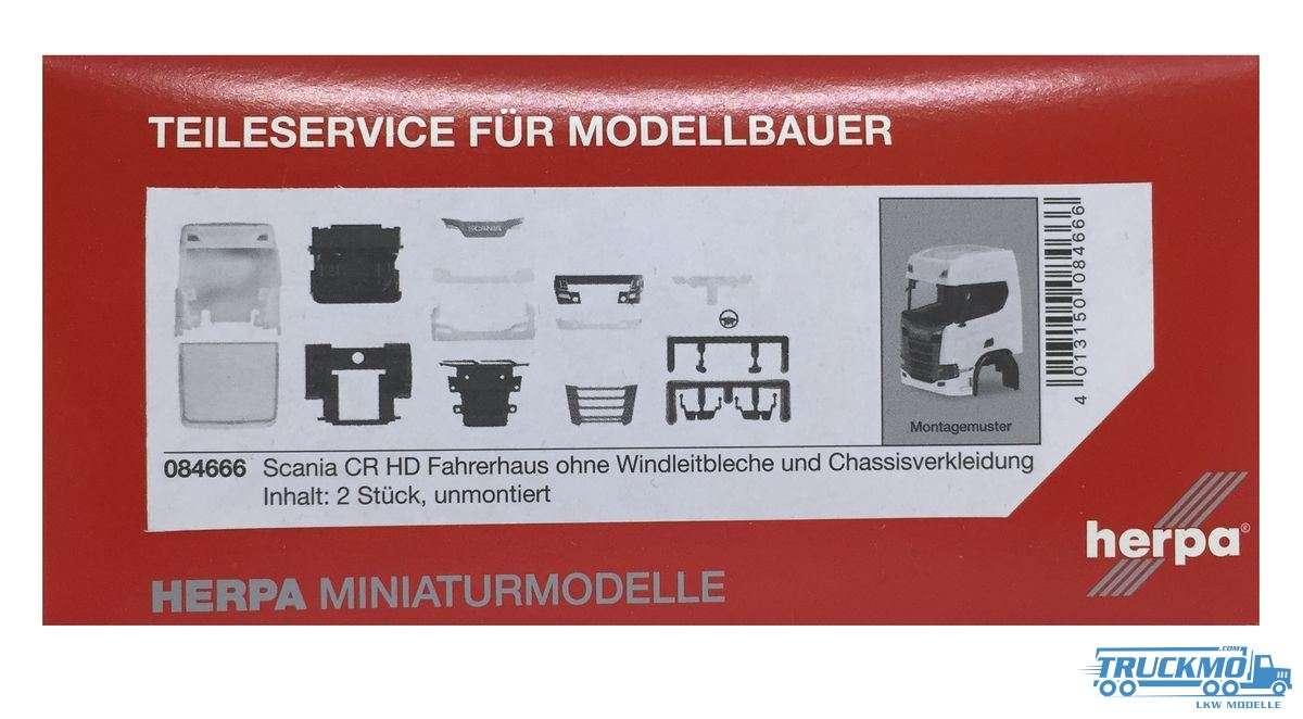 Herpa Fahrerhaus Scania CR HD ohne Windleitblech und Chassisverkleidung (Inhalt: 2 Stück) 084666