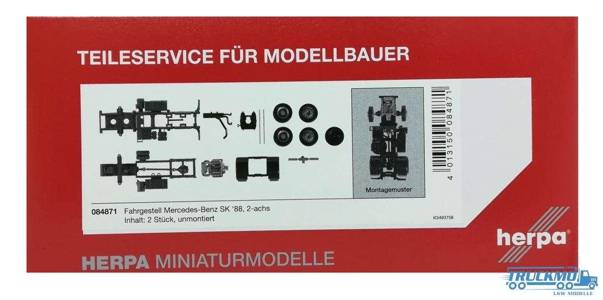 Herpa Fahrgestell Mercedes-Benz SK, 2-achs Inhalt: 2 Stück 084871