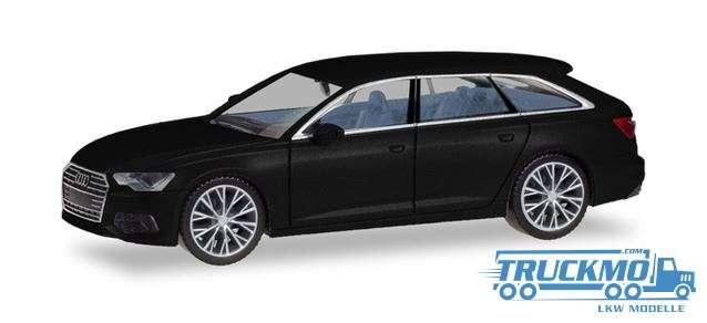 Herpa Audi A6 ® Avant, brillantschwarz mit zweifarbigen Felgen 430685