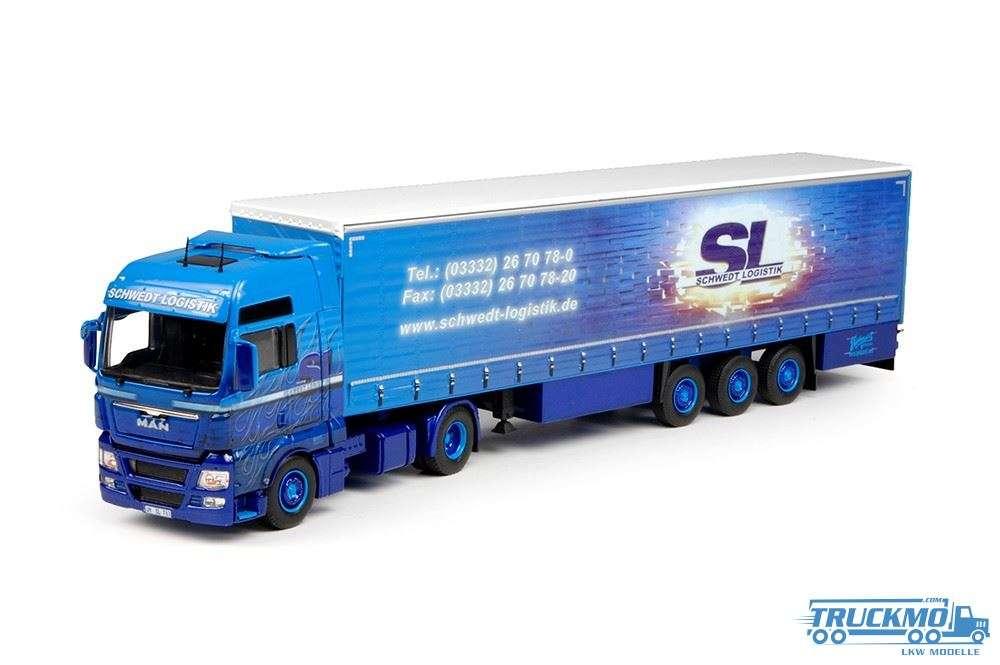 Tekno Schwedt Logistik MAN TGX XXL mit Schiebeplanen-Auflieger
