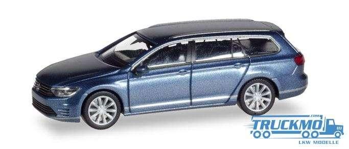 Herpa VW Passat Variant GTE E-Hybrid, havardblue metallic 038980