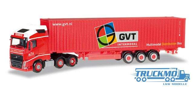 Herpa GVT LKW Modell Volvo FH Gl. 6x2 45 ft. Container-Sattelzug 307710