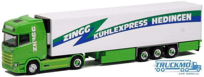 Herpa Zingg Scania CS 20 HD V8 Kühlkofferauflieger 5017