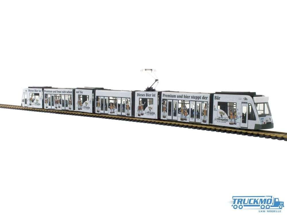 Rietze Modelle Augsburg Schwarzbräu Siemens Combino STRA01043