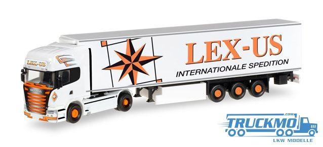 Herpa Lex-Us LKW Modell Scania R 2013 Kühlkoffer-Sattelzug 305518