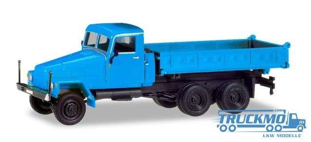 Herpa IFA G5 Dreiseitenkipper, blau (Geänderte Kabine und neuer Aufbau) 308670