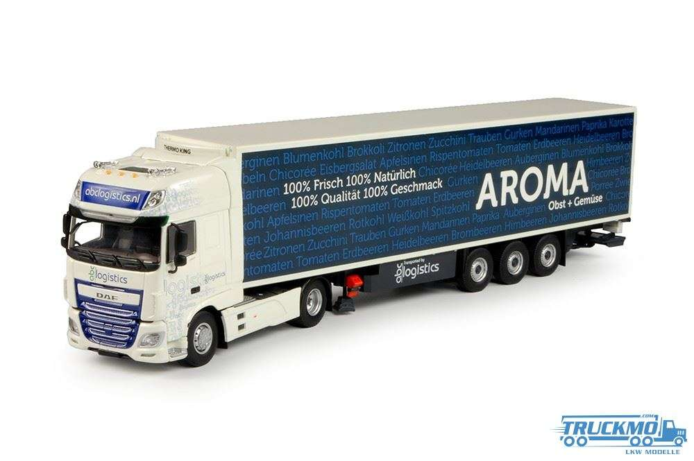 Tekno ABC Logistics - Aroma LKW Modell DAF Euro 6 XF Super Space Cab mit Kühlauflieger 69634
