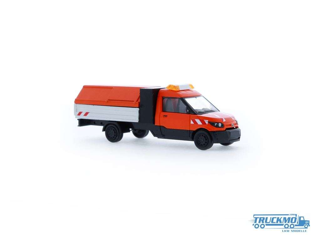 Rietze Modelle Stadtreinigung Streetscooter Work L Pritsche/Müllhaube 33200