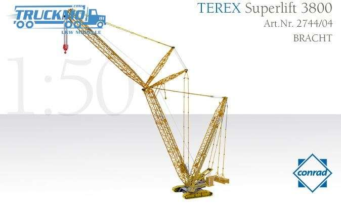 Conrad Bracht Terex Superlift 3800 crawler crane 2744/04