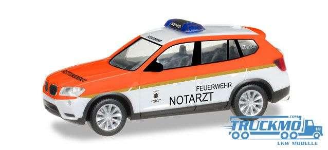 Herpa Feuerwehr München / Notarzt BMW X3 093378