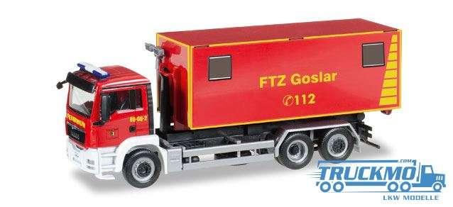 Herpa Feuerwehrtechnische Zentrale Goslar MAN TGS M Wechsellader 092722