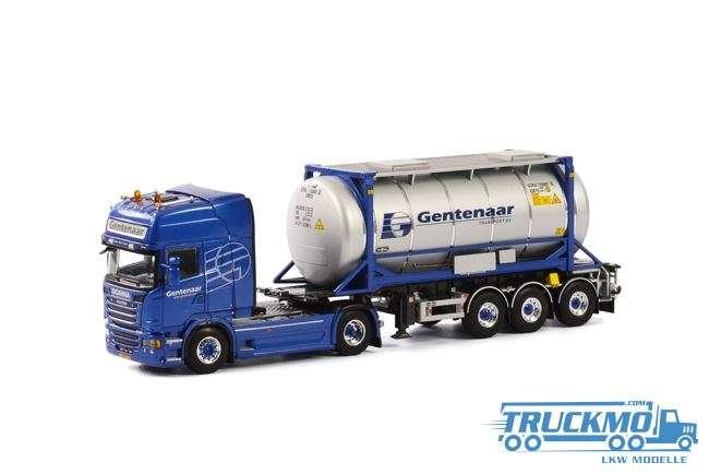WSI Gentenaar Transport LKW Modell Scania R Streamline Topline mit Tankcontainer 01-1782B