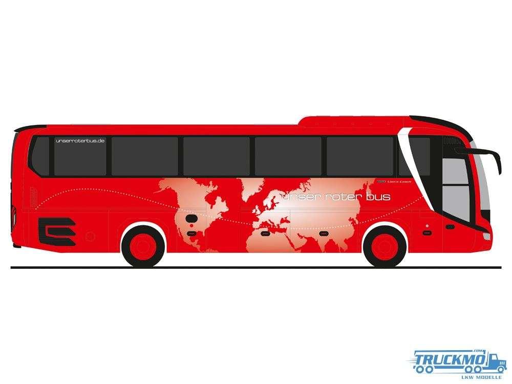 Rietze Modelle Unser Roter Bus Uckermünde MAN Lions Coach 17 74821