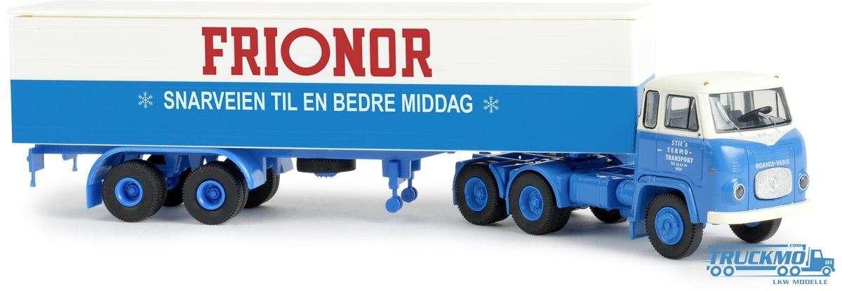 Brekina Sties / Frionor Scania LBS 76 Koffer-Sattelzug 85183