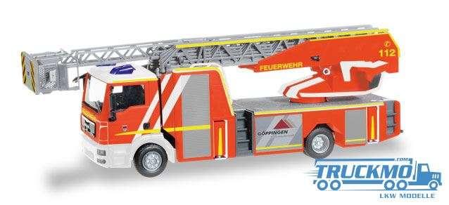 Herpa Feuerwehr Göppingen MAN TGS M Metz Drehleiter 32 XS 093064
