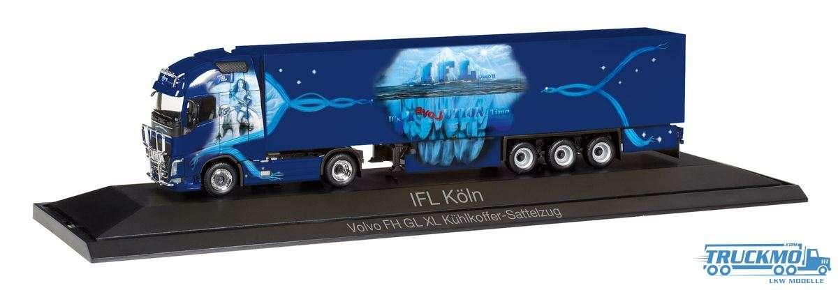 Herpa IFL Köln Volvo FH Gl. XL Kühlkoffer-Sattelzug 121798