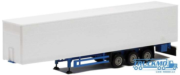 Herpa Gardinenplanen Auflieger 3 Achs weiß Chassis blau 640369