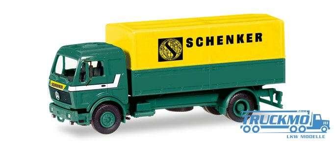 Herpa Schenker MiniKit: Mercedes-Benz Planen-LKW 013321
