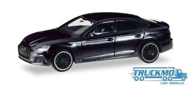 "Herpa Audi A5 Sportback ""Black Edition"" mythosschwarz metallic 038799"