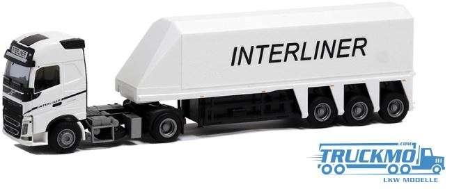"AWM Interliner LKW Modell Volvo 12"" Glob. Innenlader Sattelzug 8968.11"
