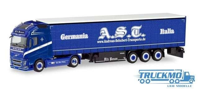 Herpa AST Schubert Italia / F.IIi Bonan Volvo FH GL XL Gardinenplanen-Sattelzug 311236