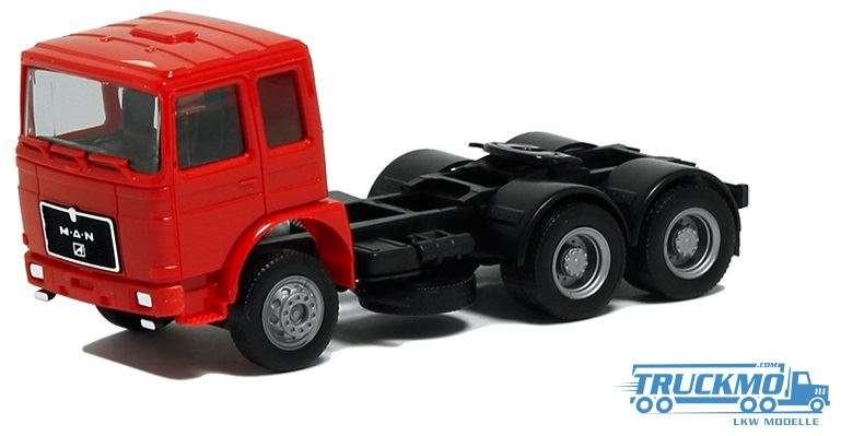 Herpa MAN F8 Zugmaschine 3 Achs FH rot 570008