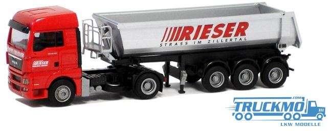 AWM Rieser LKW Modell MAN TGX XLX Muldensattelzug 54410