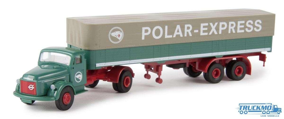 Brekina Polar Express Volvo N88 Planenauflieger 85609