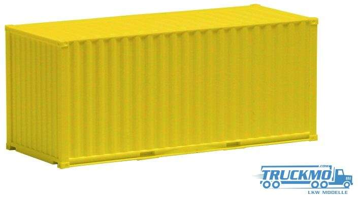 AWM 20ft. Container gerippt gelb 490032