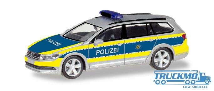 Herpa Polizei Sachsen VW Passat Variant B8 093828