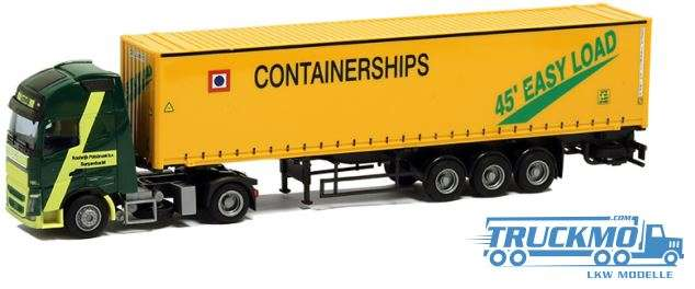 AWM Containerships LKW Modell Volvo 12 XL 45' OS Container Sattelzug 8979.31