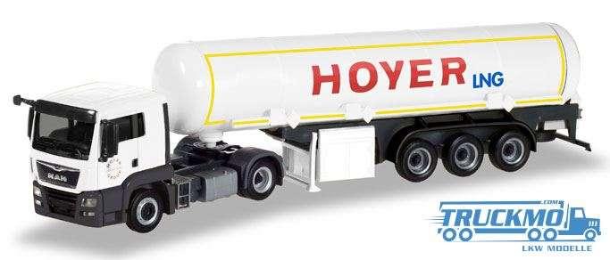 Herpa Hoyer LNG MAN TGS L Euro 6c Benzintank-Sattelzug 308618