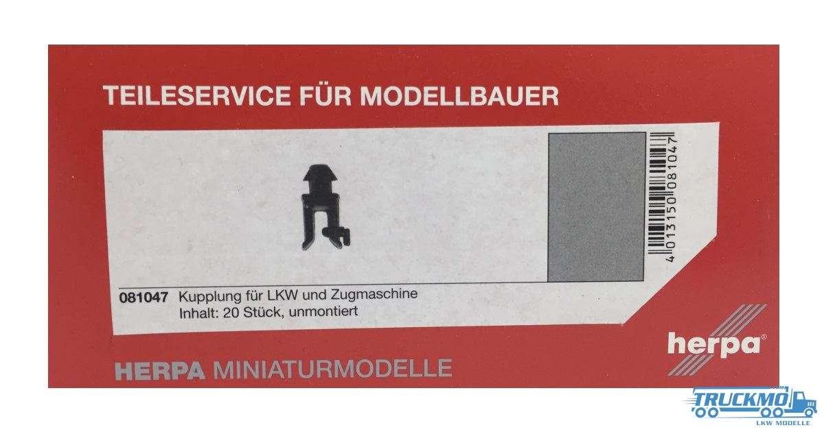Herpa Kupplungsmaul für LKW und Zugmaschinen. Inhalt: 20 Stück