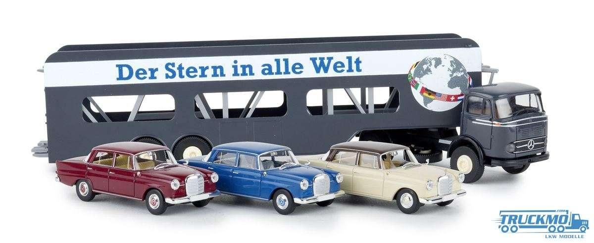 Brekina Der Stern in alle Welt Mercedes Benz LPS 338 Autotransporter 48033