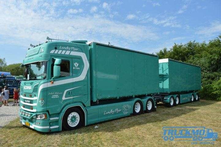 Tekno Jakob Pedersen Scania Next gen S-Serie Anhänger Resin Container 74546