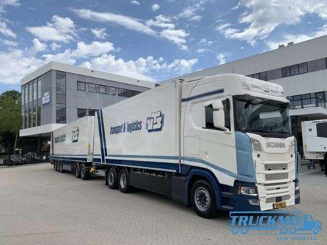 Tekno VTS Transport & Logistics Scania LZV S-Serie Highline Motorwagen Kühlauflieger 75152