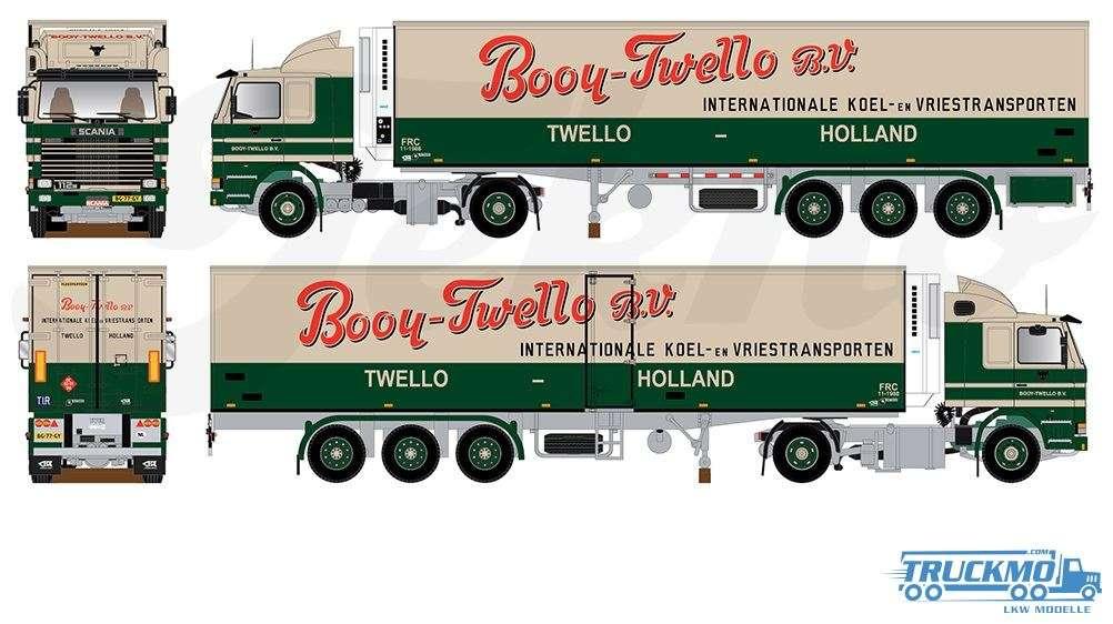 Tekno Booy Scania 2-Serie mit 12,5m Kühlauflieger 75508