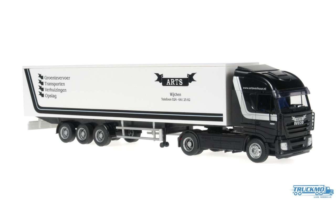 Rietze Arts Transport Iveco Stralis Kofferauflieger 60864