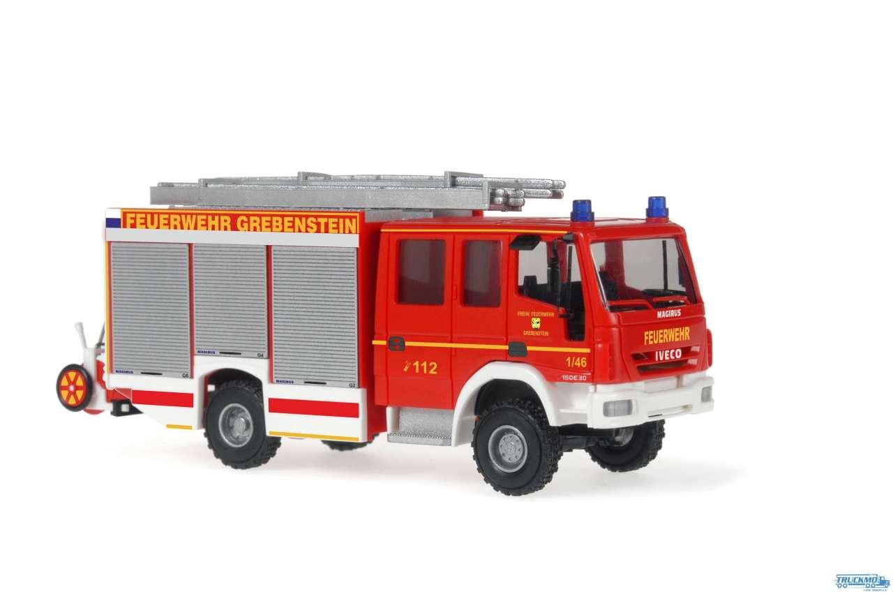 Rietze Feuerwehr Grebenstein Iveco Magirus HLF 20/16 Alufire 3 61249