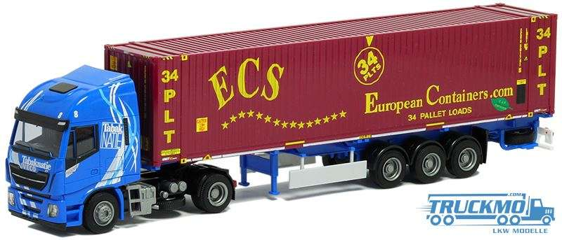 AWM Tabaknatie / ECS Iveco Stralis HiWay XP 45ft Container 9197.51