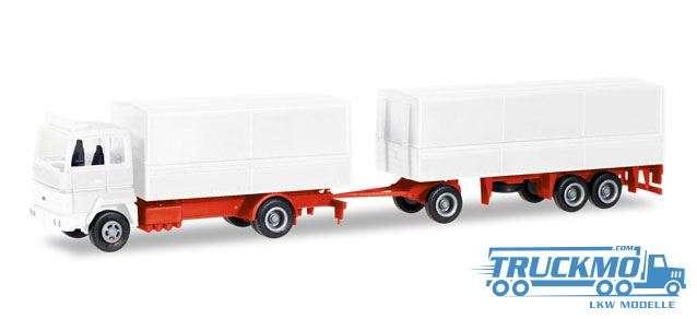 Herpa MiniKit: Ford Transconti Planen-Hängerzug weiß 013192
