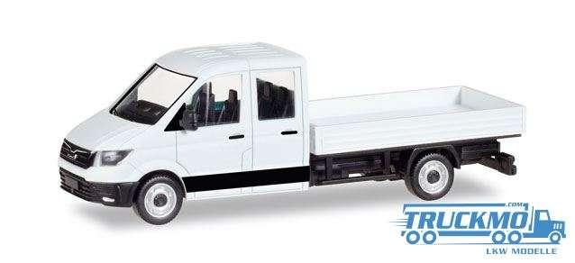 Herpa MiniKit: MAN TGE Doppelkabine mit Pritsche, weiß 013215