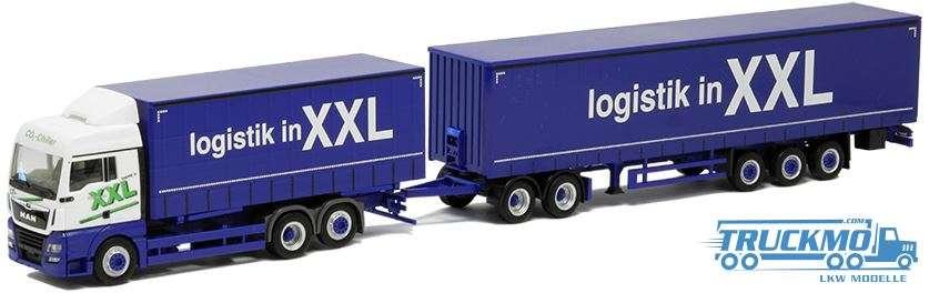 Herpa Logistik in XXL MAN TGX XLX Euro 6 Eurocombi 930178