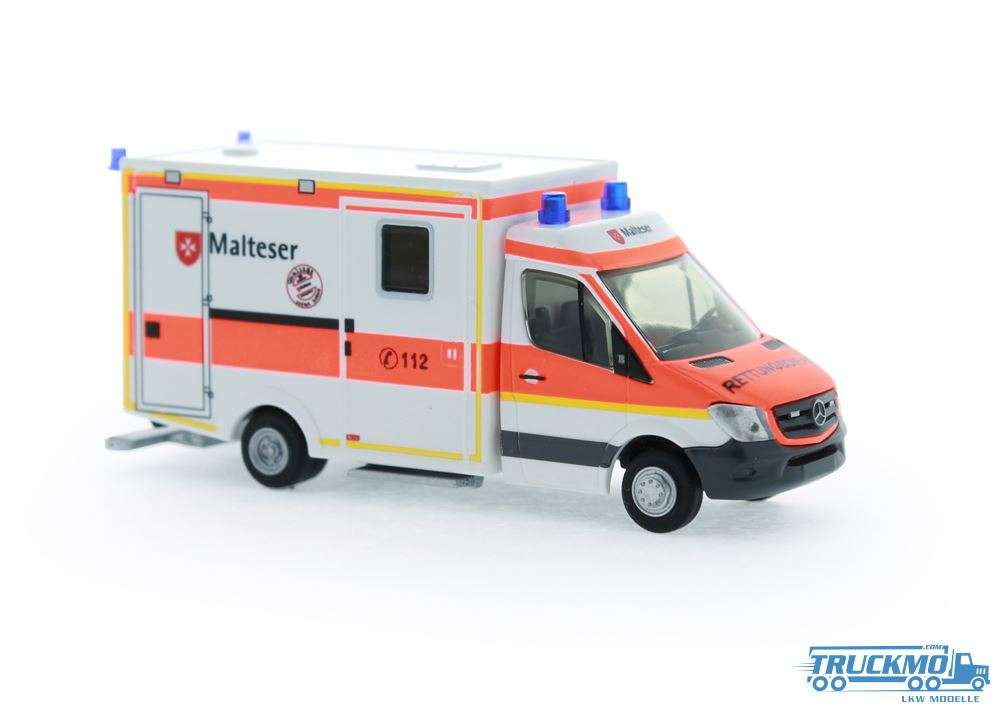Rietze Malteser Waischenfeld Mercedes Benz WAS RTW Facelift 61735
