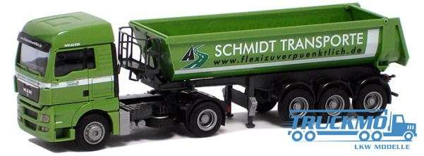 AWM Schmidt Transporte MAN TGX XLX Rundmuldensattelzug 74481