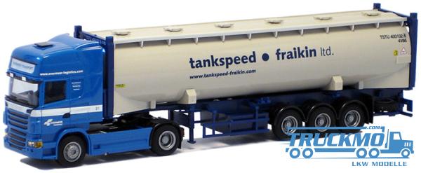 "AWM Overmeer/tankspeed LKW Scania ""09"" Topl./Aerop. - Silo.Co.-SZ Modell"