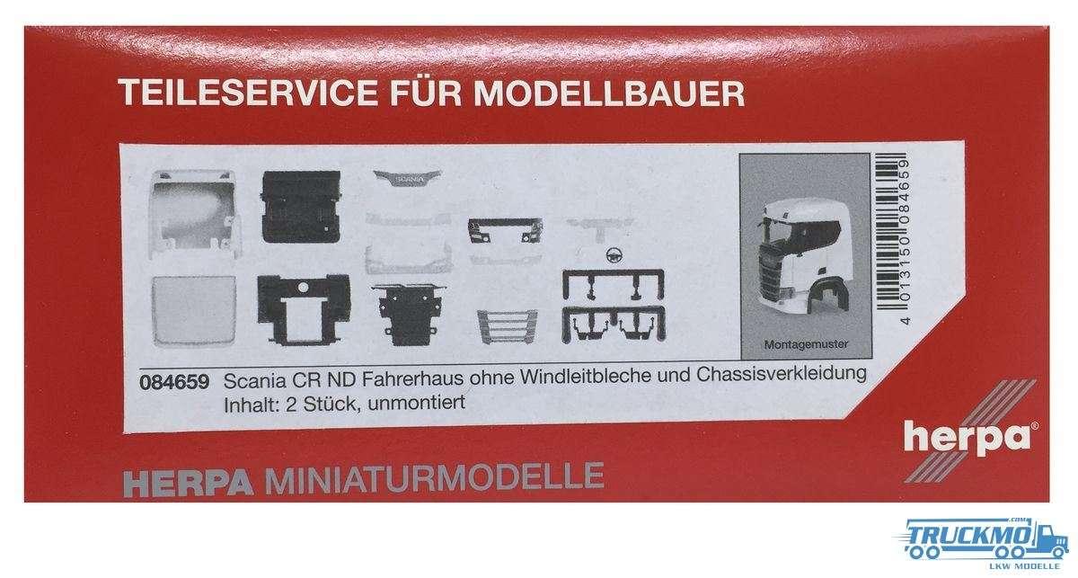 Herpa Fahrerhaus Scania CR ND ohne Windleitblech und Chassisverkleidung (Inhalt: 2 Stück) 084659