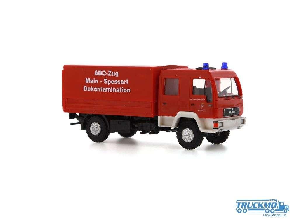 Rietze Feuerwehr ABC Zug Main-Spessart MAN Dekon-P 68042