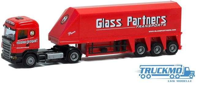 AWM Glass Partners LKW Modell Scania 09 Highl. Innenlader Sattelzug 8568.11