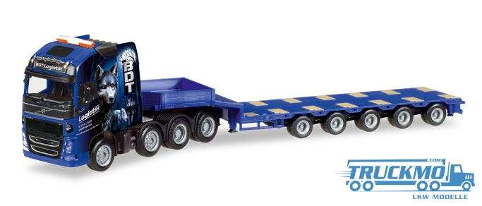 Herpa BDT Logistik GmbH Volvo FH Gl. Semitieflade-Sattelzug 308564